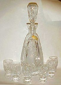 Imperlux Amphora  cut crystal liquor decanter n glasses