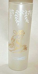 Libbey White Rock Fairy Nymph frosted glass