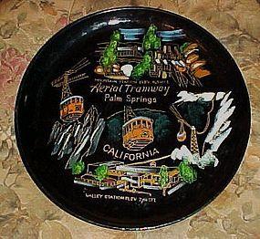 Vintage Kelvins lacquer souvenir plate  Palm Springs CA