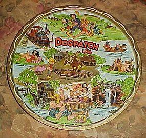Vintage metal souvenir tray Dogpatch USA Lil Abner