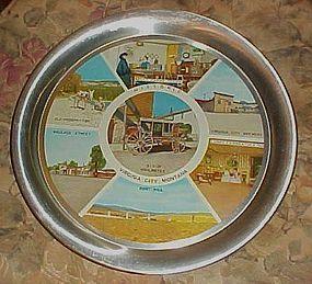 Vintage aluminum netal souvenir tray Virginia City