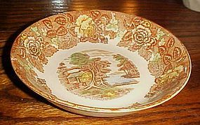 Nasco mountain woodland coup soup bowl transferware