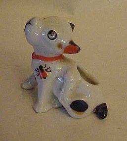 Vintage scratching dog toothpick holder Japan