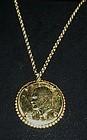 1974 Gold plated Eisenhower Dollar pendant
