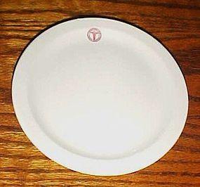 "Shenango China Army Medical bread plate 6 3/8"""