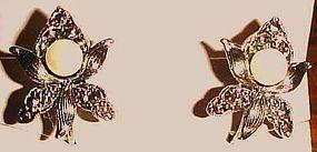 Avon Romantic Blossom Clip on earrings new in box 1992