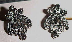 1992 Avon Antique Style Lyre Clip earrings original box