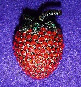 Weiss strawberry pin / brooch