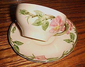 Franciscan Desert Rose cup n saucer old marks 1941-47