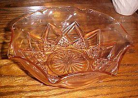 hazel Atlas Diamond Arches large ruffled berry bowl