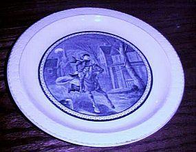 Barker Bros Tudor Ware souvenir of Paul Revere's Ride