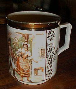 Czech porcelain Mug scene from The Bartered Bride