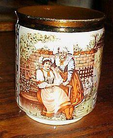 Czech porcelain mug The Bartered Bride opera scene