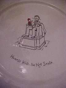 Merry masterpieces dinner plate Honest kid Im not Santa