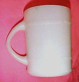 Anchor Hocking Fire King white Ranger Barrel mug