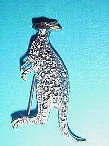 Pretty marcasite kangaroo pin