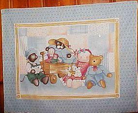 Uncut sewing craft panel Daisy Kingdom crib quilt top