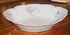 Antique Facon H Bavaria Germany oval floral veg bowl