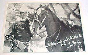 Tom Mix & Tony horse 5x7 Ralston  fan photo 1920's
