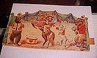 Vintage Germany 1920's circus valentine  moveable