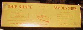 Vintage 40's unassembled Ship Shape Destroyer model