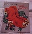 Vintage 1950's Christmas card  VERY SOXY!!!!