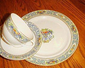 Vintage Lenox The Autumn 3 pc cup saucer plate set