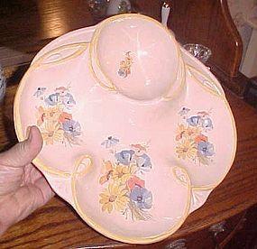 Vintage California Originals floral divided server dish