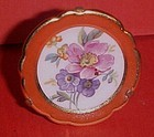 """Miniature Limoges France 1.75""""  floral plate w/stand"""