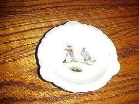 Vintage BWGT ceramic cartoon golf ashtray 1966