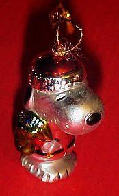 Kurt Adler Santa Snoopy MINI Christmas ornament