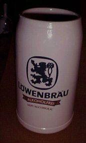 Franz Herb Lowenbrau Alkoholfrei 1 litre stoneware mug