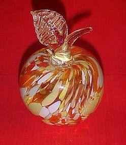 Beautiful Murano spatter glass apple paperweight