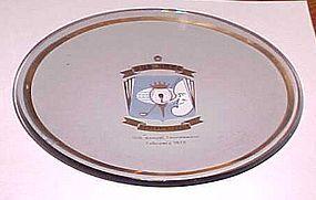 Bob Hope 11th Desert Classic crystal trophy tray1970