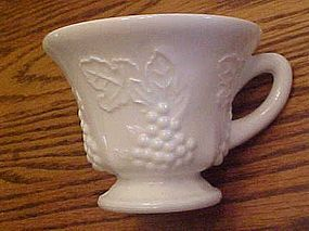 Indiana Harvest  grapes milk glass footed cup