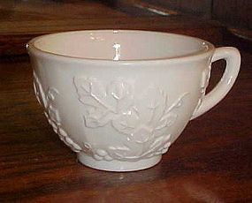 Indiana Glass Harvest  milk glass flat cup