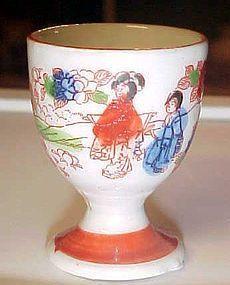 Vintage Geisha girl egg cup Japan
