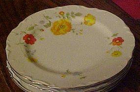 "Wellin China Tivoli garden 5600 salad plate 7 3/4"""