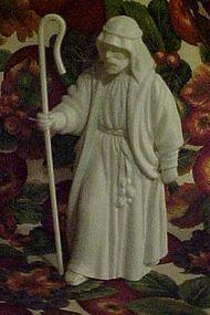 Avon white bisque nativity  shepherd with hook figurine