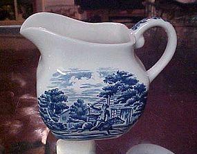 Staffordshire Libery Blue creamer