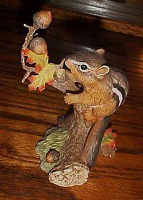 1991 Lenox Autumn adventure Eastern Chipmunk figurine