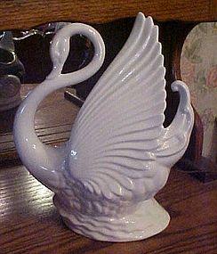 Maddox of California white swan TV lamp planter 1950's