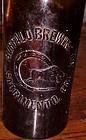 Old Buffalo Brewing Co Quart amber beer bottle Sacramento CA