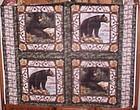 1 yd uncut fabric 4 block panel of Montana Black Bears new old stock