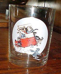 Norman Rockwell Saturday Evening Post glass  Soapbox Racer Jan 9 1926