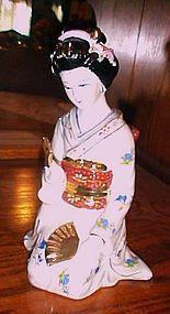 """Large Gorgeous Japanese Geisha kneeling figurine 9"""""""