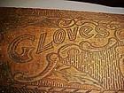 Flemish Pyrography wood glove box