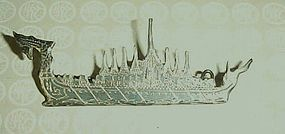 Vintage Thailand Siam Sterling silver ship pin