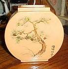 Asian designed  ceramic vase with Bonsai tree