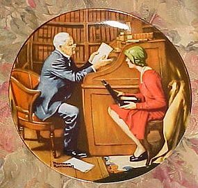 """Norman Rockwell Heritage collection plate """"The Professor"""" MIB"""